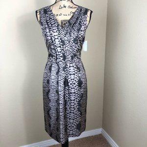 Banana Republic Grey Silk Sleeveless Dress 10 P